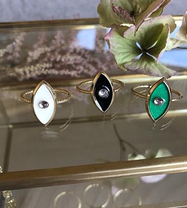 virginie-berman-bague-lilou-or-fin-trois-modeles-email-blanc-noir-vert